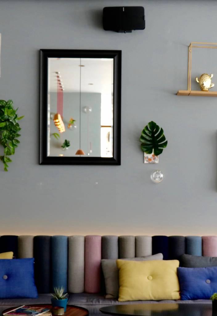 Haarlem - Tijdloze Markante Spiegel - Kleur Zwart