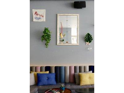 Rimini Grande - spiegel - zilver/hout