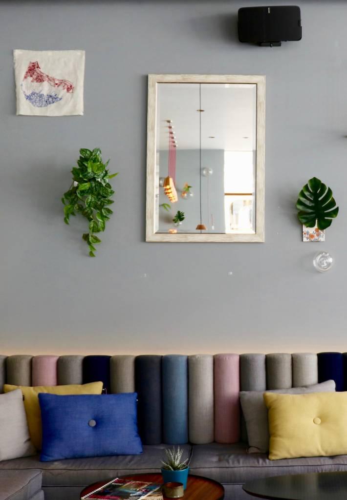 Rimini Grande - Landelijke Spiegel - Wenge  Gekleurd Frame