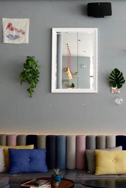Bonalino - Barok Spiegel met Bladpatroon - Zwart Gekleurd Frame
