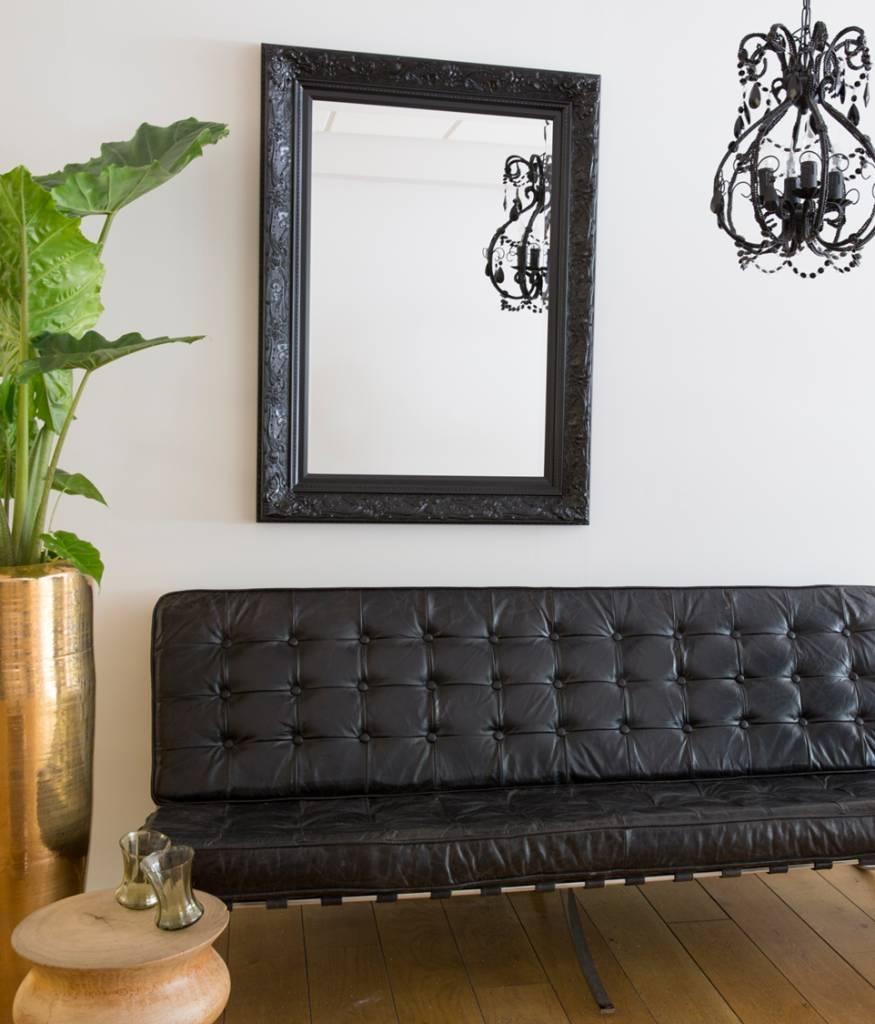 Zwarte Brocante Spiegel.Turin Sfeervolle Spiegel Met Zwarte Barok Lijst