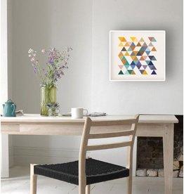 Retro Driehoek - poster met witte lijst
