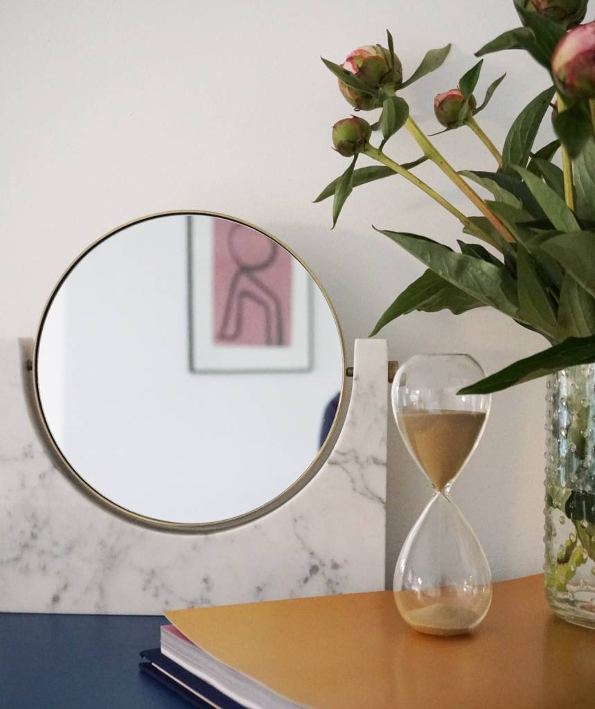 Marble Mirror - wit marmer