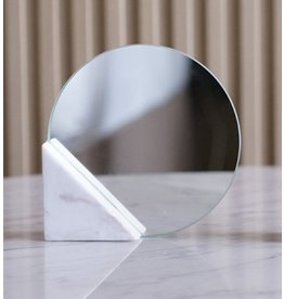 Triangle Marble Mirror - wit