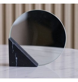 Triangle Marble Mirror - zwart