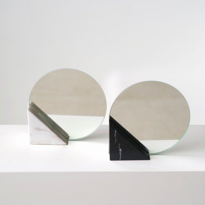 Triangle Marble Mirror - wit marmer