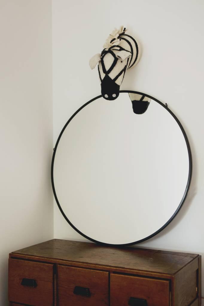 Spiegel San Francisco - ronde spiegel - zwart