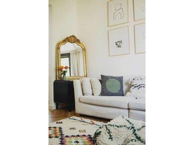 Parijs - Barok Geometrische Franse Kuifspiegel - Wit Gekleurd