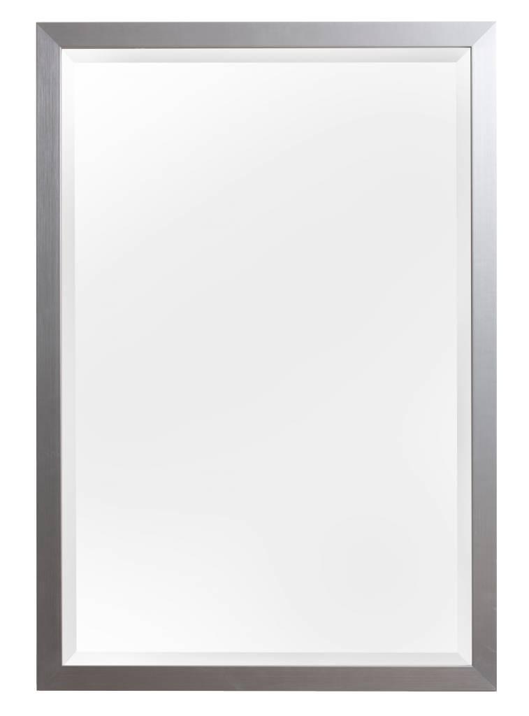 Barletta - spiegel - geborsteld zilver/aluminium