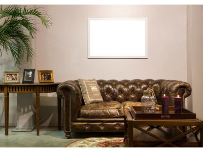 New York - Strakke Moderne Designlijst - Wit Gekleurd