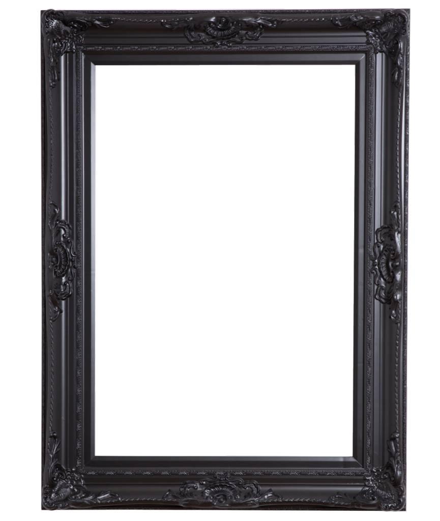 Nice - zwarte barok lijst met ornament