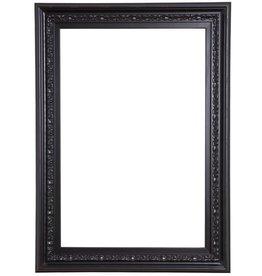 Murcia - zwarte houten lijst met ornament