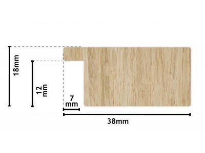 Barletta - Moderne Strakke Lijst - Kleur Geborsteld Aluminium