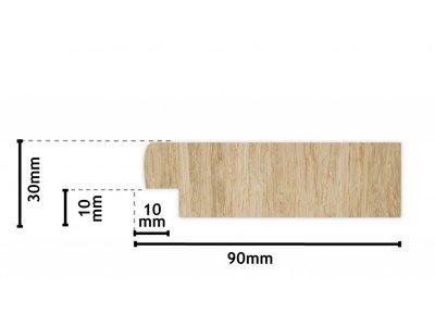 Wood - Geschuurde Steigerhouten Lijst - White Wash-Look