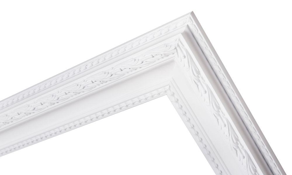 Pizzo - Bescheiden Italiaanse Barok Lijst - Wit Gekleurd