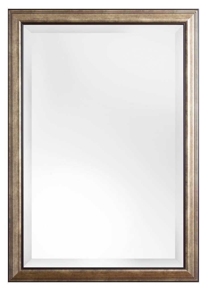 Rieti - spiegel - brons/donker zilver