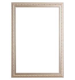 Brocante Zilveren Spiegel.Zilveren Barok Lijsten Brocante Lijsten Kunstspiegel