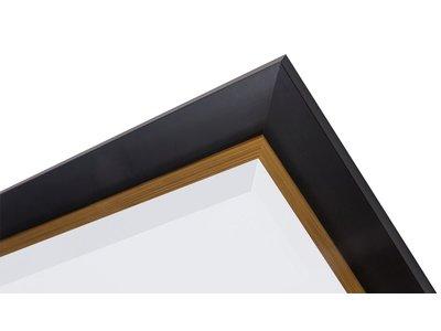 Firenze -spiegel - zwart/goud