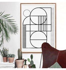 Vontrueba Lux 6 - poster met houten lijst