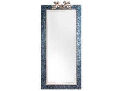 Engelen - spiegel - blauw/zilver