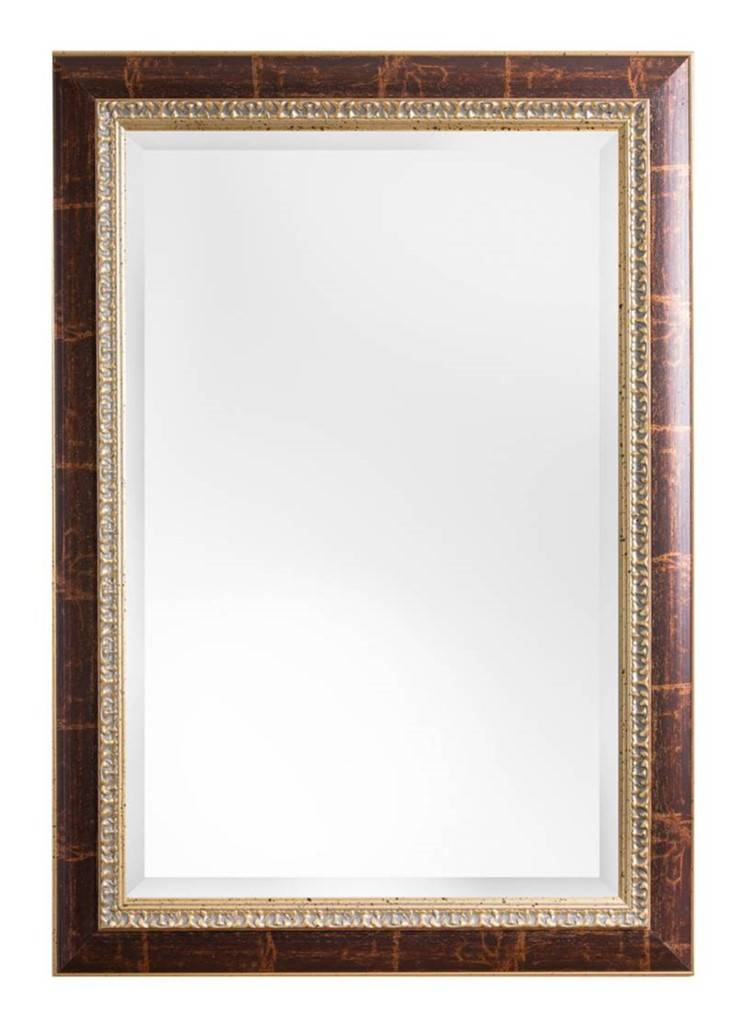 Ibiza - spiegel - bruin/goud