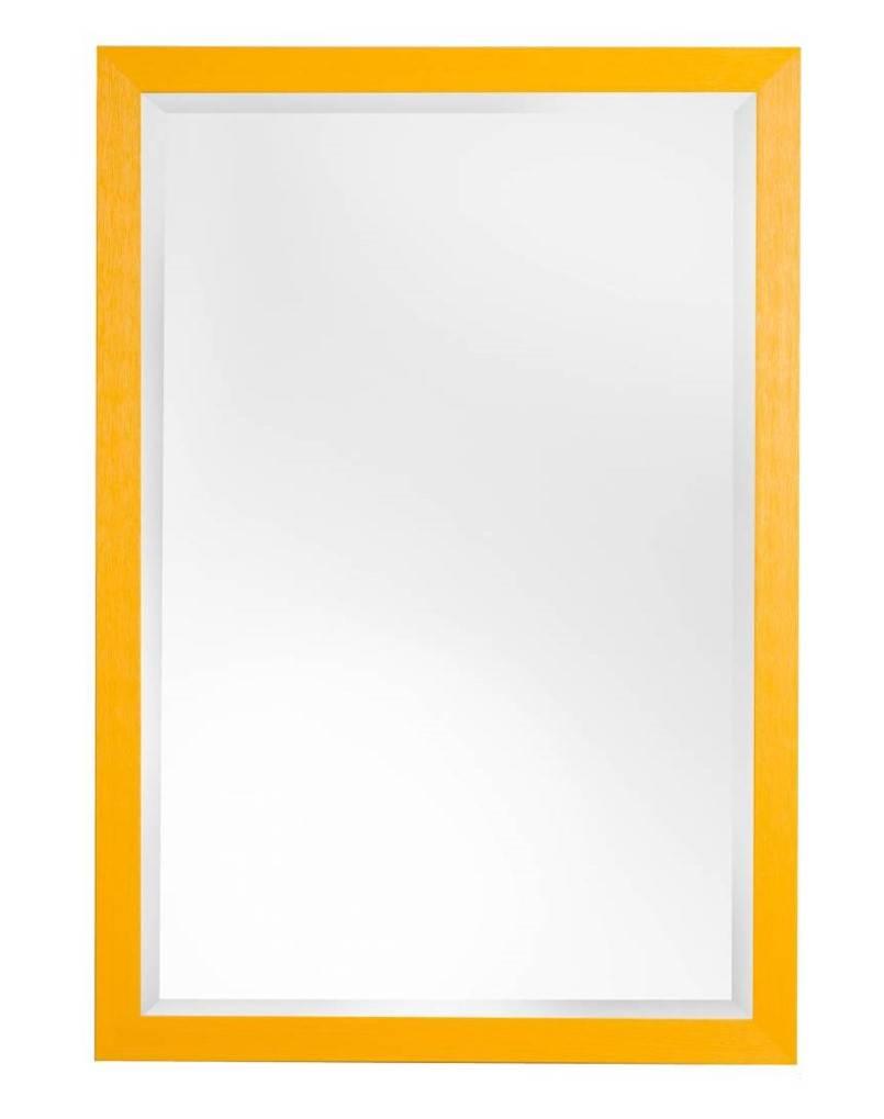 Roses - spiegel - geel/hout