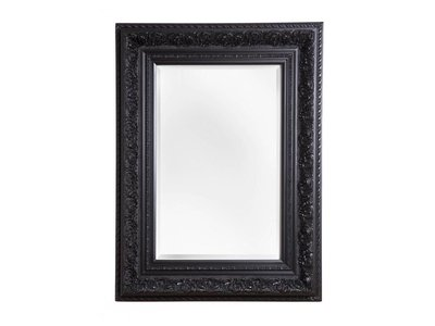 Gouden Barok Spiegel : Genova luxe barok spiegel met windmotief zwart gekleurd