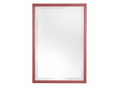 Lille - spiegel - rood/hout