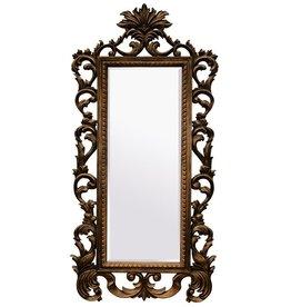 Bordeaux - lange barok spiegel - bruin