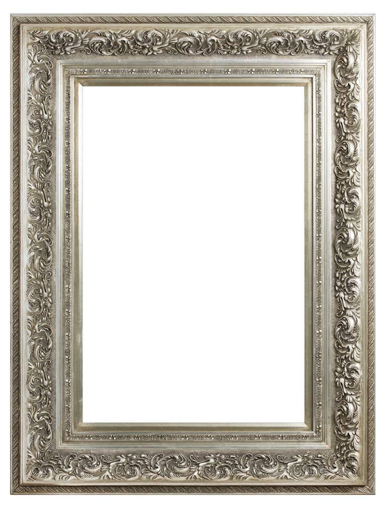 Barok Lijst Op Maat.Genova Luxe Barok Lijst Met Windmotief Licht Zilver Gekleurd