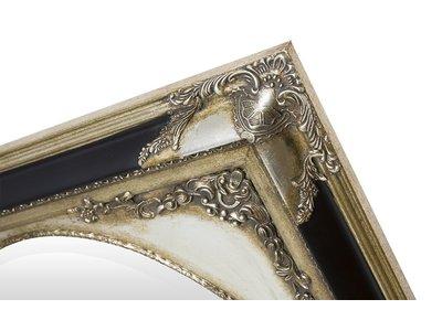 Tivoli - spiegel - zilver/zwart