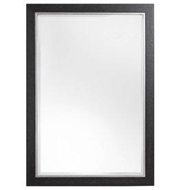Modena - spiegel - zwart/zilver