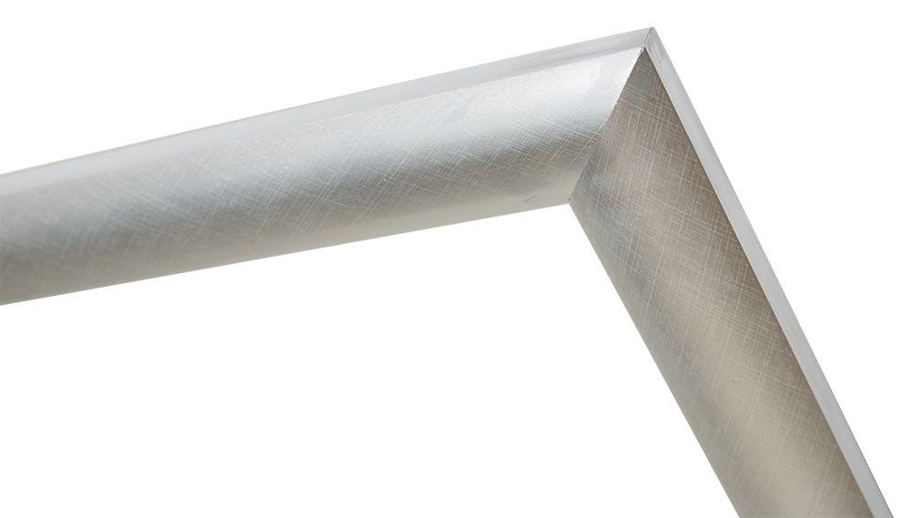 Augusta - Moderne Bolle Lijst- Zilver Gekleurd
