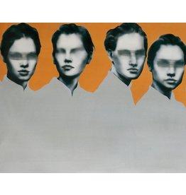 Oranje Vrouwen II - Art Print op Canvas