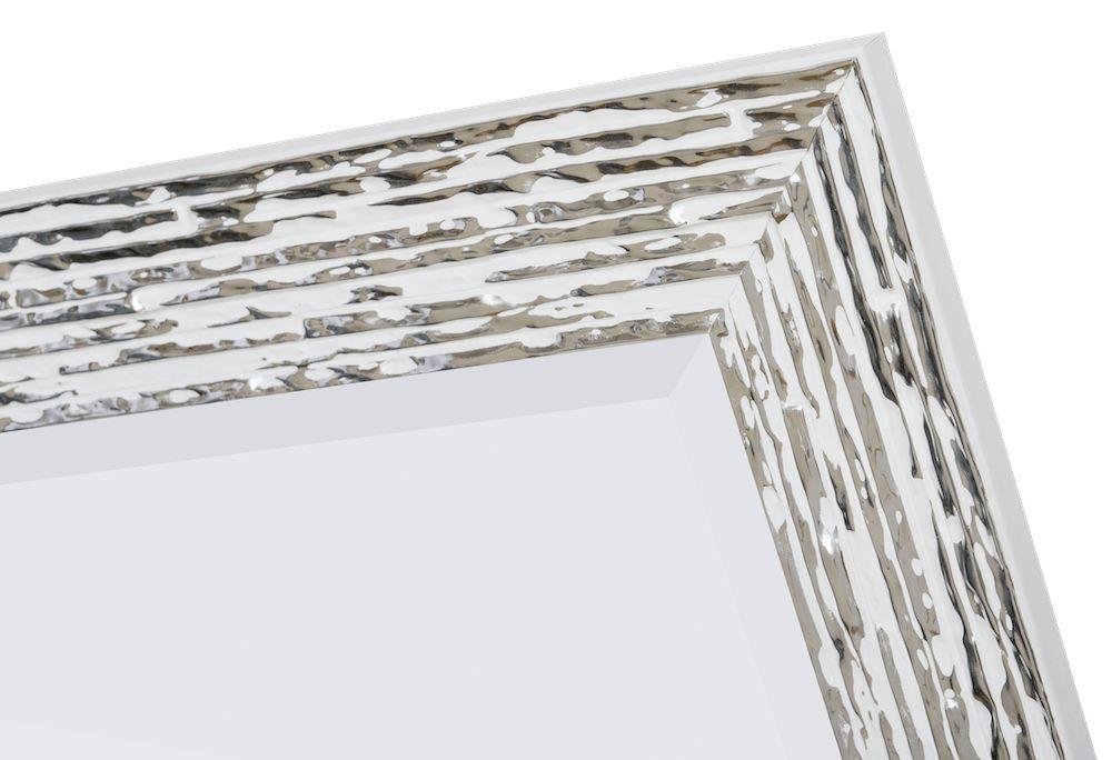 Toscane - spiegel - wit/zilver