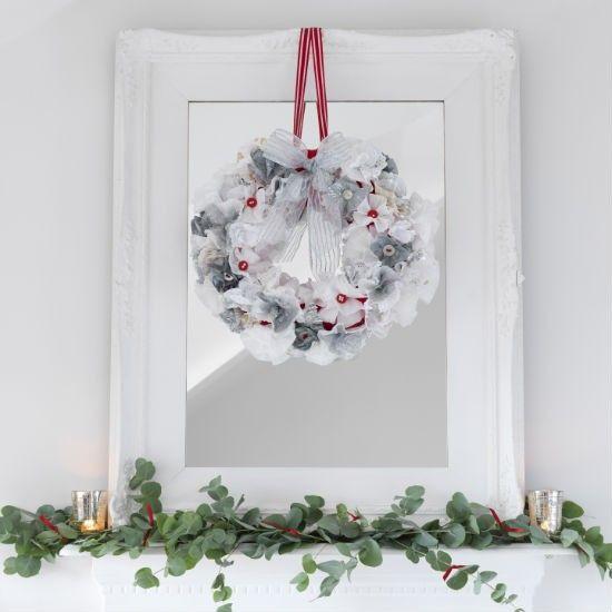 Kerstversiering met Spiegel