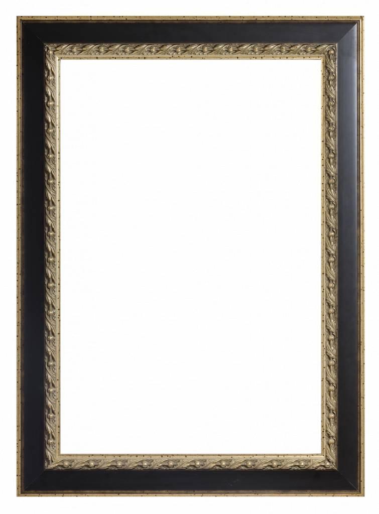 Forli - Lijst met Bladmotief en lichte buitenrand - Kleur Donkerbruin En Goud