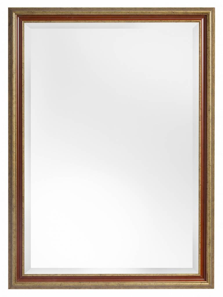 Loano - spiegel - goud/lichtrood