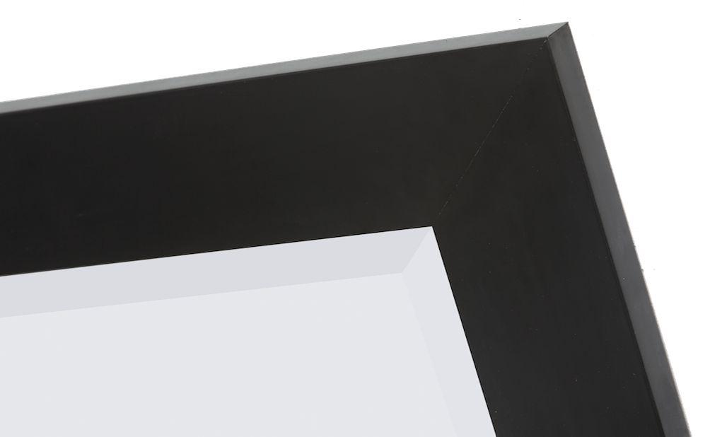 Spiegel Zwarte Lijst.Milano Spiegel Met Stoere Brede Lijst Kleur Zwart