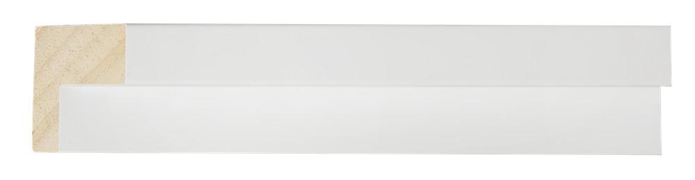 San Rocco - Smalle Baklijst voor Doek en Paneel - Kleur Wit