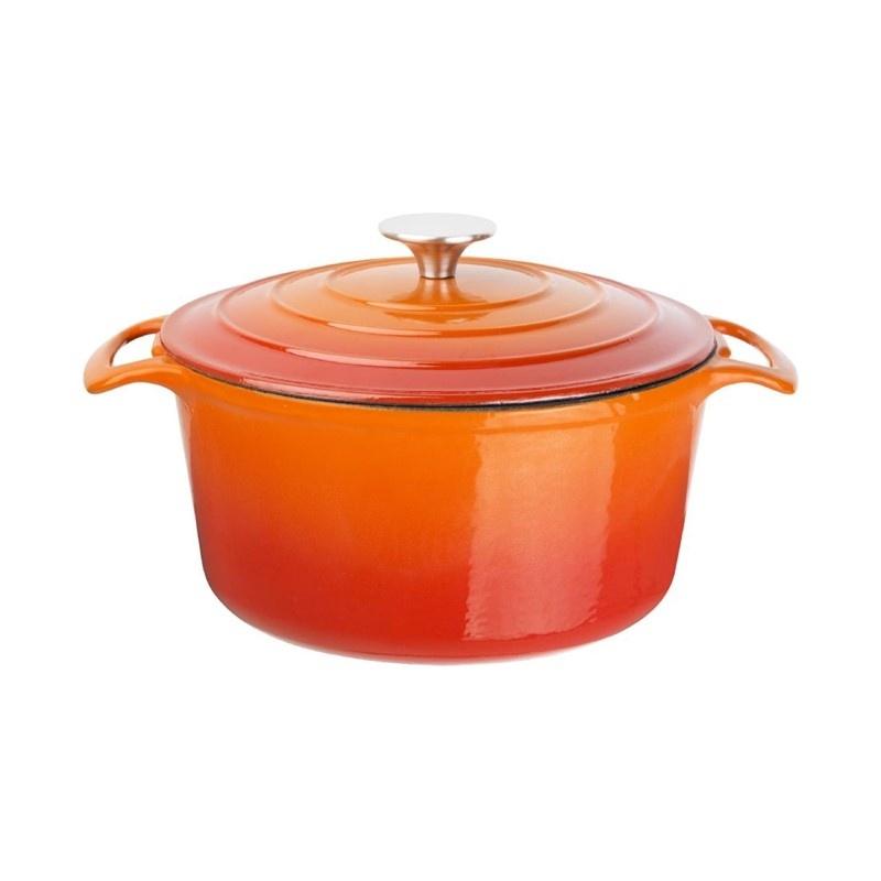 Ronde braadpan oranje