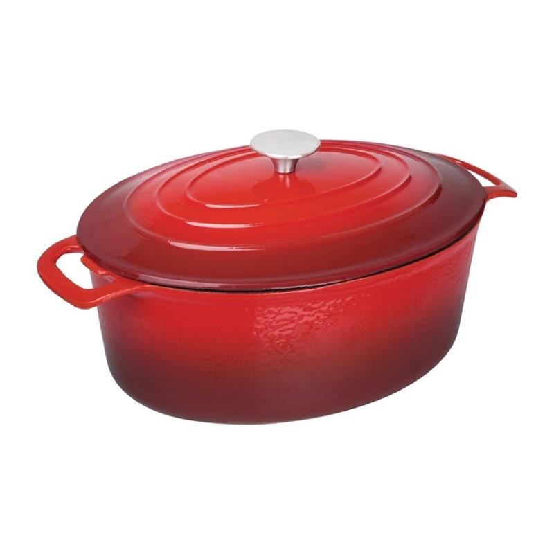 Ovale braadpan rood