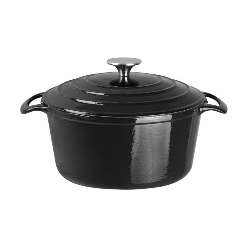 Ronde braadpan zwart