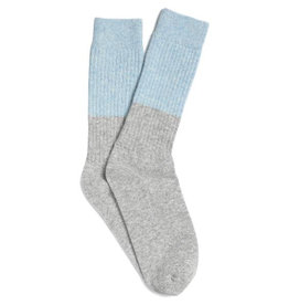 Yawn Yawn - Cosy Sleep Socks, Grey & Light Blue