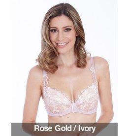 Lepel Lepel - Fiore  Plunge Bra, Rose Gold/Ivory