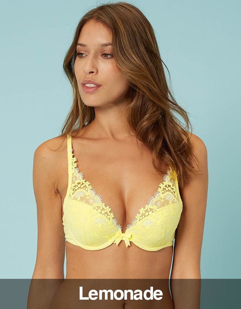 e37a085d739 Simone Perele - Wish Triangle Push Up Bra, Lemonade - Rumour Lingerie