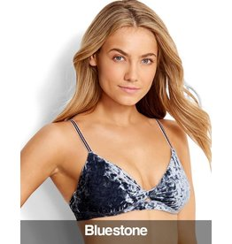 Seafolly Seafolly - Dawn To Dusk Twist Front Bralette Bikini Top, Bluestone