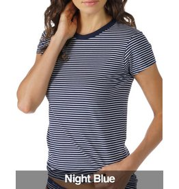 Mey Mey - Cotton Stripe Shirt 1/2 Sleeve, Night Blue