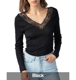 Mey Mey - Wool & Lace LS Shirt, Black
