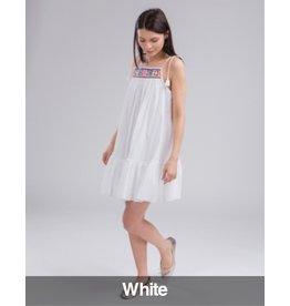 Seafolly Seafolly - Tibetan Travel Kashmir Embrioded Dress, White